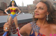 Superhero Fashion Catalogues - Diane von Furstenberg's 'Wonder Woman'