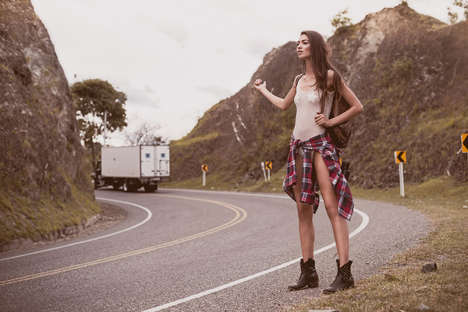 Rebellious Hitchhiking Editorials - Felipe Cuartas Photographed Juana Carolina Martinez for C-Heads