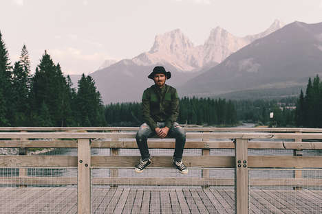 Melancholy Outdoorsy Lookbooks - The Raised by Wolves Fall/Winter Was Shot in the Canadian Rockies