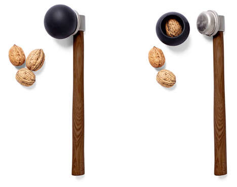 Sleek Nut Crackers - The Nut Hammer is a Simpler Way to Crack Your Nuts
