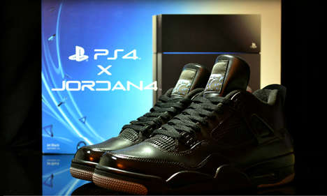 Tech-Inspired Kicks - The JRDN 4 X PS4 Shoes Combine Two Well-Known Companies