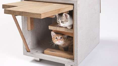Feline-Friendly Architecture - These Outdoor Cat Shelter Designs Raised Money For the FixNation NGO