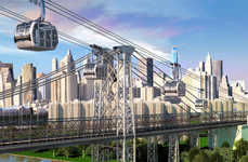 Conceptual Commuter Gondolas - The Proposed East River Skyway Will Alleviate Overcrowded NYC Transit