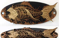 Intricate Wood Carvings - Martin Tomsky Creates Stunning Multi-Layered Laser-Cut Wood Artworks