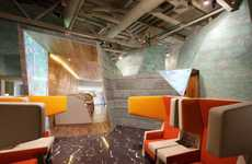 Sci-Fi Airport Lounges - The Koltsovo Airport VIP Lounge Boasts a Futuristic Interior Design