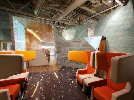Sci-Fi Airport Lounges - The Koltsovo Airport VIP Lounge Boasts a Futuristic Interior Design