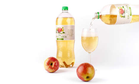 Soda-Like Cider Bottles - This Apple Cider Bottle Hints at Its Non-Alcoholic Content