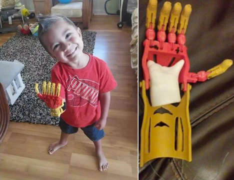 Superhero-Inspired Hand Replacements - Bubba's 3D Printed Prosthetic Limb is Modelled After Iron Man