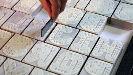 3D-Printed Letterpress - The A23D Letterpress Font Premiered at the London Design Festival