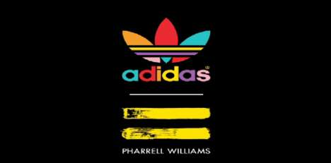 Pop Star Collaboration Logos - The Adidas Originals Pharrell Williams Logo is Funky and Modern