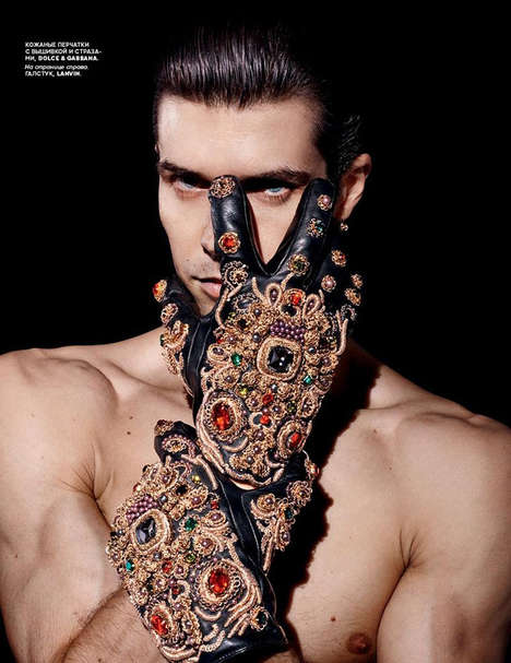 Flamboyant Menswear Accessories - Vogue Russia's Superman Story Captures Ballet Dancer Roberto Bolle