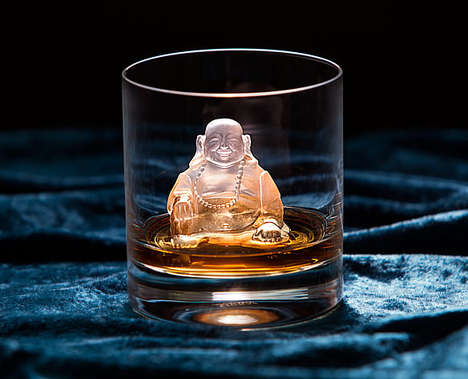 Chilly Buddah Cubes - This Laughing Buddah Ice Cube Mold Adds Some Zen to Your Drinks