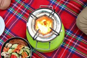 The ACE 1 Stove Uses Solar and Biomass Energy