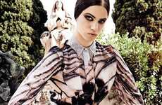 Gothic Garden Editorials - Model Lily McMenamy Stars as the Face for the New Givenchy Collection