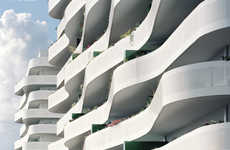 Undulating Balcony Architecture - The ZAC du Coteau Building Has an Uneven Structure