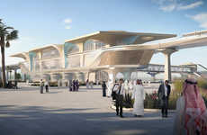Bridge-Like Metro Stations - UNStudio Creates a Section of the Doha Metro in Qatar