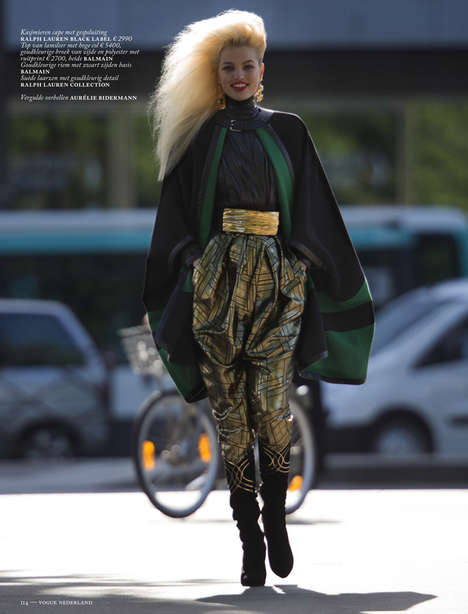 30 80s Fall Fashion Exampes - From Exaggerated Street Style Shoots to Vibrant Nostalgia Catalogs