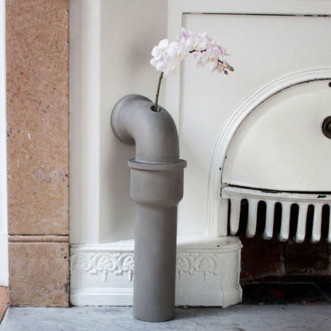 Industrial Vase Designs - The Pipeline Bud Vase Sculptures Humorously Resembles a Household Pipe