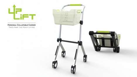 Collapsible Grocery Trolleys - This Innovative Personal Utility Cart Gets Rid of Heavy Lifting