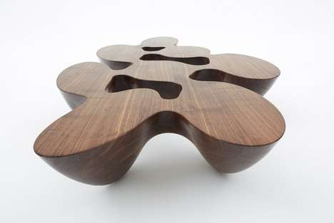 Fluid Silhouette Tables - The Quark Table Series Features Unconventional Shapes