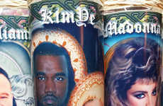 Rap Romance Effigies - These Kimye Prayer Candles Are Adorned with Everyone's Fave Couple