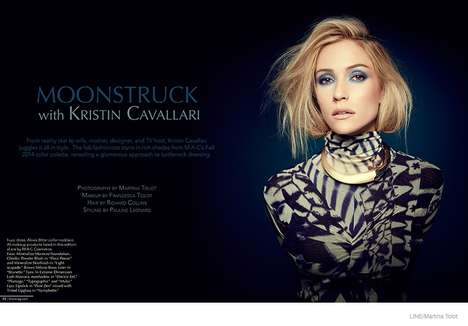 Mysterious Moonlight Editorials - The Kristin Cavallari Photoshoot for Line Magazine is Dark