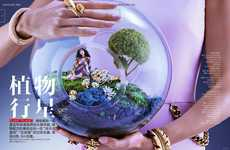 Pint-Sized Diorama Editorials - This Vogue China Beauty Exclusive Captures Miniature Photography Art