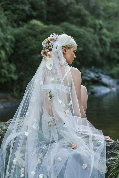 Whimsical Wedding Dresses - Hooray Magazine's 'Ophelia' Editorial is Inspired by Shakespeare