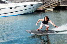 Electric-Controlled Wakeboards - The Radinn Wakeboard Requires Zero Towing