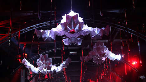 Interactive Origami Installations - Kamiko by MixMotion is a Modern Piece of Art