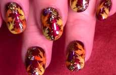 30 Autumn Nail Ideas - From Festive Fallen Leaf Manicures to Coffee Nail Art