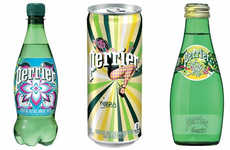 Street Art Bottle Packaging - The Perrier Street Art Limited-Edition Bottles are Bold and Vibrant