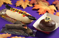 Blackened Halloween Treats - Tokyo Disney's Spooky Halloween Snacks Feature Black Donuts & Sausages