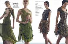 Seasonal Couture Portraits - Marie Claire's Total Looks Story Highlights Luxe Fall Fashions