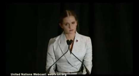 Feminism-Advocating Males - Emma Watson's Gender Equality Speech Calls For Men to Get Involved