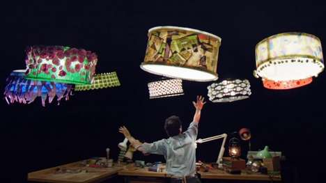 Drone Circus Performers - This Cirque Du Soleil Video Features a Fleet of Flying Lampshades