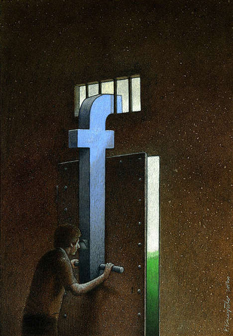 Satirical Faceboook Art - Pawel Kuczynski Cleverly and Comically Focuses on Positive Networking