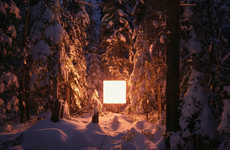 Floating Cube-Light Photos - Alternative Landscapes Depicts Cubes Lighting Up Their Surroundings