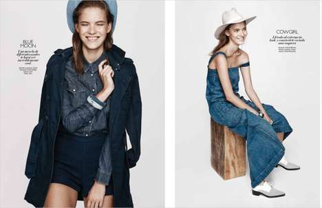 Effortless Denim Editorials - Grazia Mexico's Billie Jean Editorial Highlights Fashionable Jeans