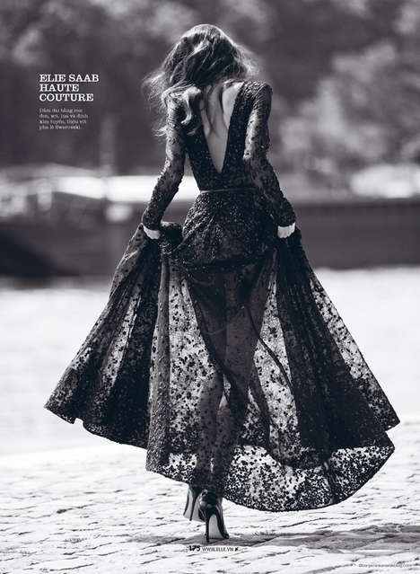 Candid Couture Editorials - The Newest Elle Vietnam Issue Stars Daniela De Jesus in Beautiful Gowns