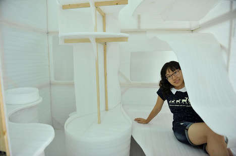 Compact Micro-Apartments - This Student-Designed Small Space Apartment is About 7' Wide