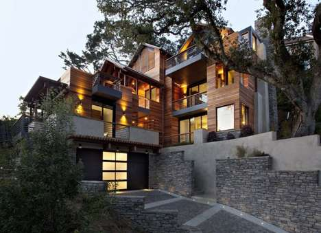 Sustainable Californian Abodes - The Hillside House is a Sustainable Property with Skylight Views