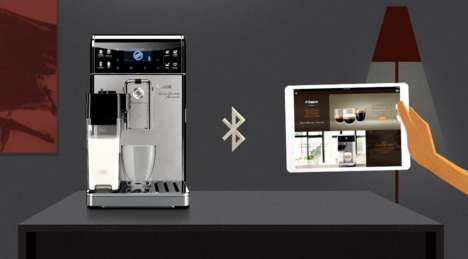 App-Controlled Coffee Machines - Saeco's Smart Coffee Machine Connects to a Tablet for Customization