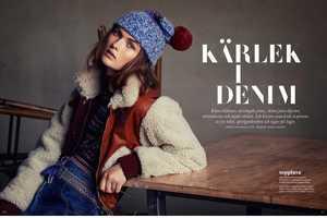 The Latest Issue of ELLE Sweden Stars Model Lara Mullen