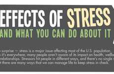 Stress Solution Stats - The Effects of Stress Infographic Describes the Problem and Tips to Deal