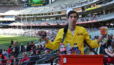 Beacon Pie Promotions - Melbourne Cricket Ground is Running a Beacon Trial to Promote Pies