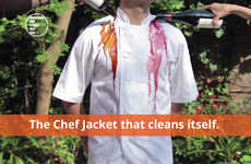 Hydrophobic Hospitality Workwear - Fabricor's Stain-Proof Chef Jacket and Apron Actually Repels Food