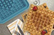Pixelated Breakfast Molds - This Conceptual Insert Allows You To Create a Retro Waffle Pattern