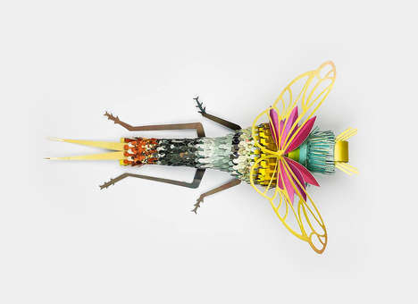 Reclaimed Paper Insects - Ad Agency Soon Creates Intricate Critter Art for IGEPA Benelux