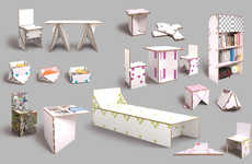 Paperboard Panel Furniture - 'Tapeflips' Focuses on Providing Sustainable Solutions for the Home